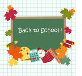Back to school card — Stock Vector