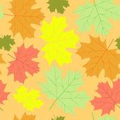 Autumn maple leaves background — Stock vektor