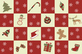 Merry christmas seamless background — Stock Vector