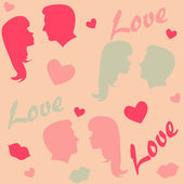 Seamless love background — Stock Photo