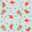 Seamless merry christmas background — Stock Vector