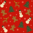 Seamless merry christmas background — Stock Vector #30191749