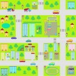 Cartoon seamless city map — Stock Vector