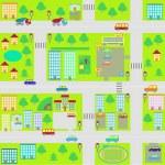 Cartoon seamless city map — Stock Vector #30458821
