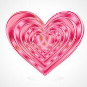 Kırmızı kalp — Stok Vektör