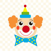 Clown face — Stockvector