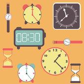 Saatler ve saatler arka plan — Stok Vektör