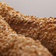 Crusty bread with sesame seeds — Stock Photo