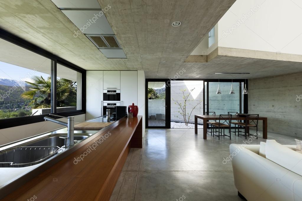 Interieur modern huis, keuken en eetkamer — stockfoto © zveiger ...