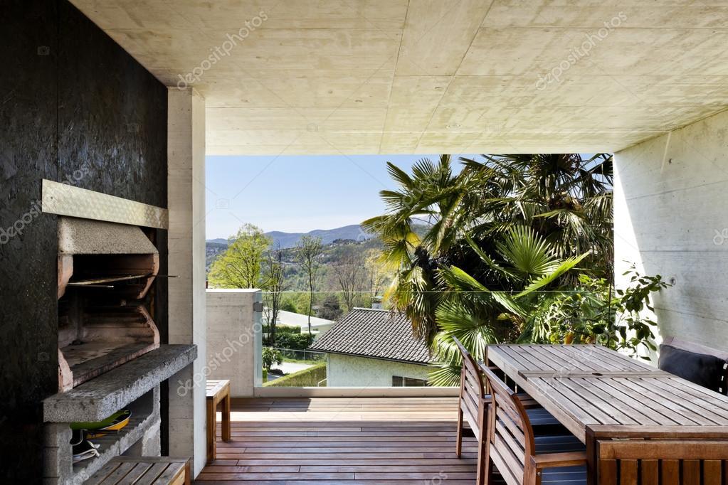 Veranda of modern house — Stock Photo © Zveiger #19528051 - ^