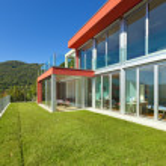 Modern house outdoor — Stock Photo