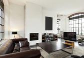Sala de estar em casa, interior — Foto Stock