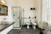 Interior home, bathroom — Stock Photo
