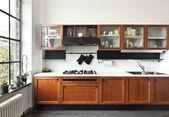 Interiér domů, kuchyně — Stock fotografie
