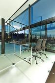 Interior, modern loft by night — Stock Photo