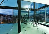 Interni, moderni loft di notte — Foto Stock