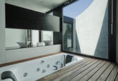Interior modern bathroom — Stock Photo