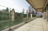 Balcony of a new house — Stock Photo