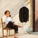 Man waiting — Stock Photo #24642127