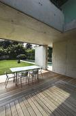 Outdoor, modern house — Stock Photo