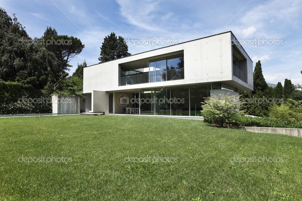 Maison moderne design en beton photo 26948011 for Maison contemporaine design