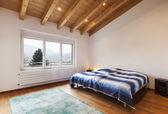 Loft interior, bedroom — Stock Photo