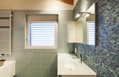 Loft interior, bathroom — Stock Photo