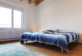 Loft interior, bedroom — Stockfoto