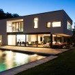 Modern villa by night — Stock Photo