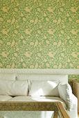 Interior luxury apartment, comfortable suite, detail divan — Stock Photo