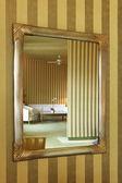 Appartement de luxe, miroir de la salle de séjour — Photo