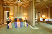 Iç lüks daire, yatak odası ve oturma odası — Stok fotoğraf