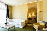 Interior luxury apartment, comfortable classic living room — Zdjęcie stockowe