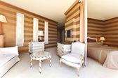 Interior luxury apartment, comfortable suit — Stock Photo