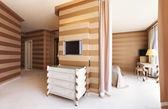 Interior luxury apartment, detail room, passage — Stock Photo