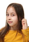 Retrato de niña sonriente — Foto de Stock