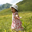 Girl in the mountain — Stock Photo #29691151