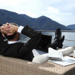 Stock Photo: Businessman relaxing