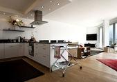 漂亮的厨房和客厅 — 图库照片