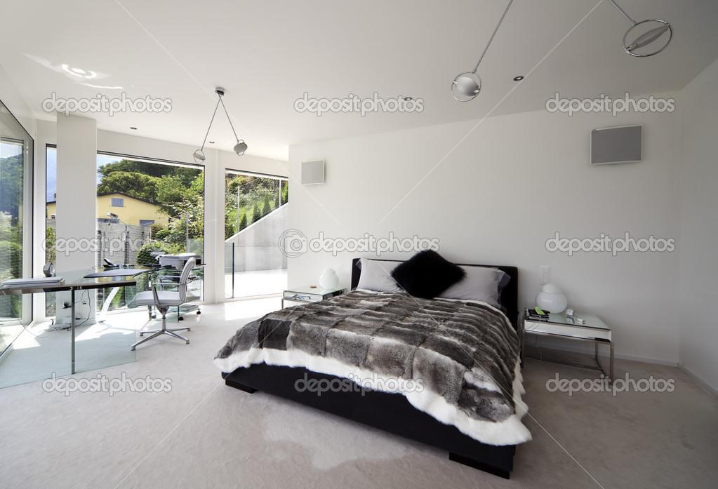 interieur maison moderne chambre. Black Bedroom Furniture Sets. Home Design Ideas
