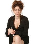 Beautiful businesswoman sitting — Stock Photo