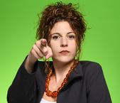 Woman pointing you — Stock Photo
