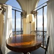 Tower, luxury residential apartments, dinning table — Foto de Stock