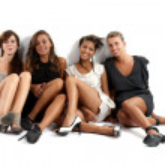 Portrait of four girls — Stock Photo