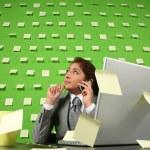Businesswoman talking to cellphone — Stock Photo #30908757