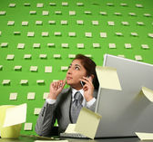 Businesswoman talking to cellphone — Stock Photo