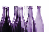 Violet bottles — Stock Photo