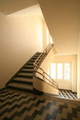 Staircase with handrail — Stockfoto