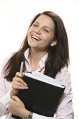 Businesswoman laughing — Stock Photo