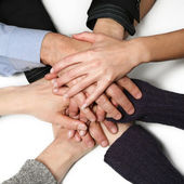 Hands of the group — Stock Photo